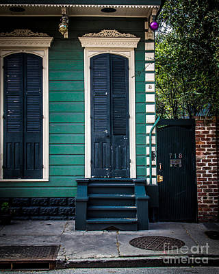 Nola Digital Art - Black Doors by Perry Webster