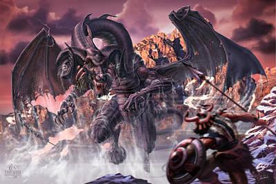 Black Top Digital Art - Black Dragon Of The North by Tom Wood