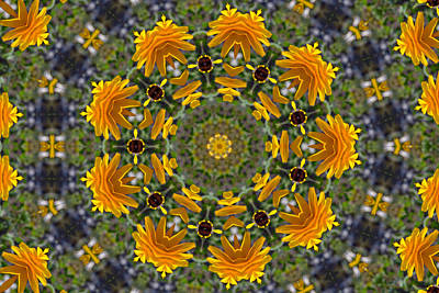 Photograph - Black Eyed Susan Mandala #1 by Beth Sawickie