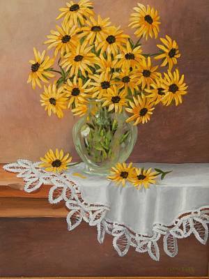 Black-eyed Susans Original by Anna Lowther