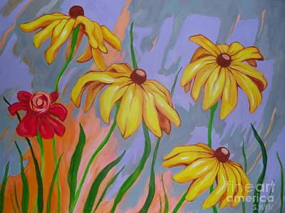 Painting - Black-eyed Susans by Sandra Yuen MacKay