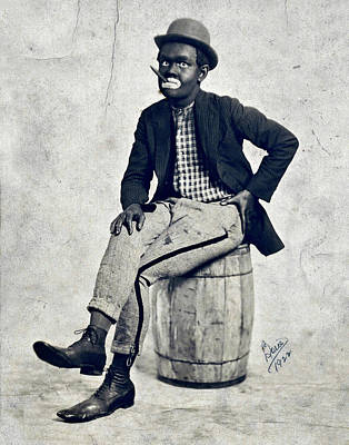 Photograph - Black Face Minstrel by Lora Mercado