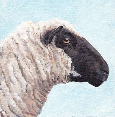 Black Face Sheep Art Print by Charlotte Yealey