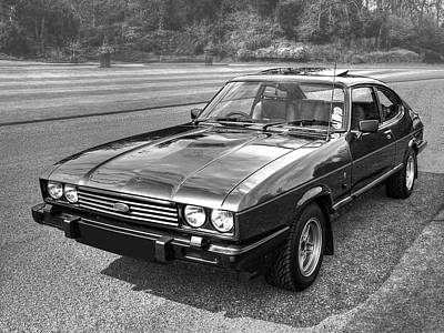 Photograph - Black Ford Capri 1978 - 1986 by Gill Billington