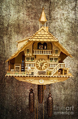 Steampunk Royalty-Free and Rights-Managed Images - Black Forest Figurine Clock by Heiko Koehrer-Wagner
