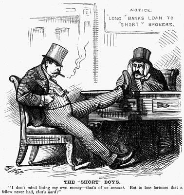 Black Commerce Painting - Black Friday Cartoon, 1873 by Granger
