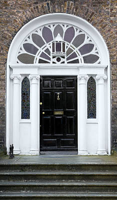 Photograph - Black Georgian Door - Dublin - Ireland by Jane McIlroy