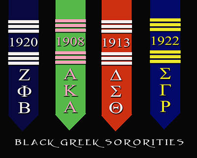Black Greek Sororities Art Print