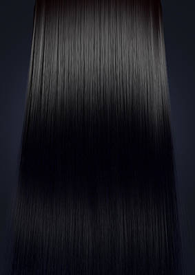 Black Hair Perfect Straight Print by Allan Swart
