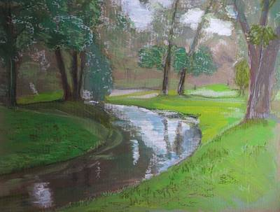 Black Hancza River Art Print by Agata Suchocka-Wachowska