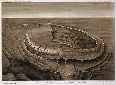Black Hills Of South Dakota  1880 Art Print by Compass Rose Maps