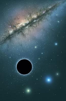 Black Hole And Galaxy, Artwork Art Print