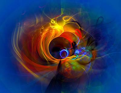 Yellow Abstract Art Digital Art - Black Hole by Modern Art Prints