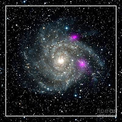 Photograph - Black Holes In Spiral Galaxy Nasa by Rose Santuci-Sofranko