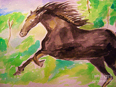 Painting - Black Horse by Sidney Holmes
