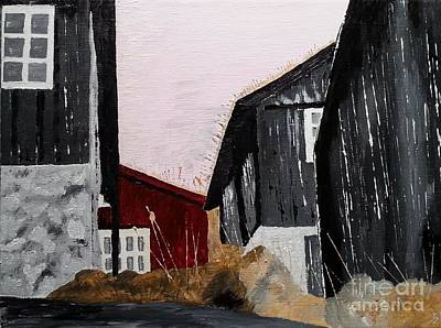 Painting - Black Houses by Susanne Baumann