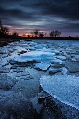 Beaver Lake Photograph - Black Ice by Aaron J Groen
