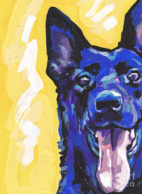 Colorful Dog Painting - Black Is Black by Lea S