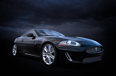 Sportscars Digital Art - Black Jaguar by Douglas Pittman