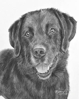 Painting - Black Lab Bandit by Kate Sumners