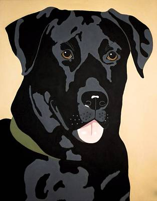 Black Lab Art Print by Julie Stubbs