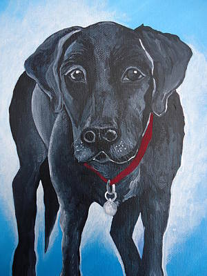 Painting - Black Lab by Leslie Manley