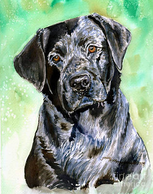 Painting - Black Lab by Tracy Rose Moyers