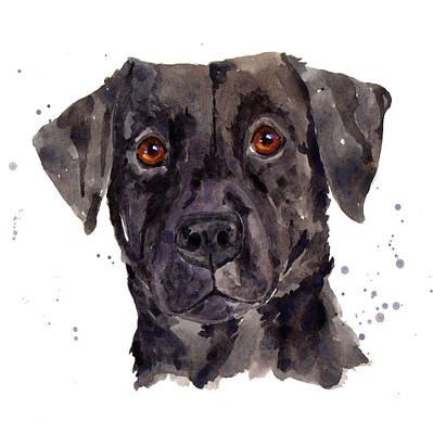 Black Labrador Painting - Black Labrador by Alison Fennell