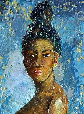 Combination Mixed Media - Black Lady by Janet Ashworth