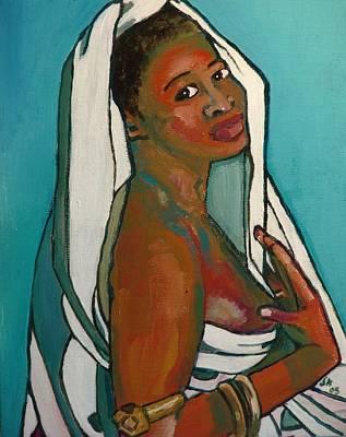 Black Lady No. 5 Art Print by Janet Ashworth