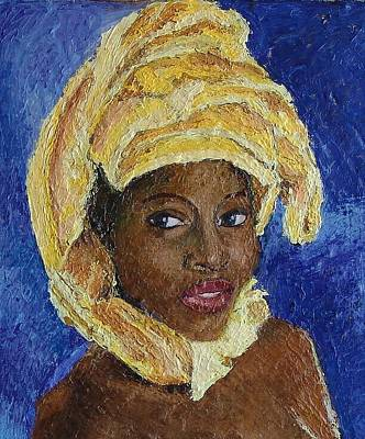 Black Lady No. 6 Art Print by Janet Ashworth