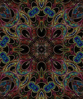 Digital Art - Black Light 1 by Wendy J St Christopher