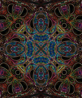 Digital Art - Black Light 10 by Wendy J St Christopher