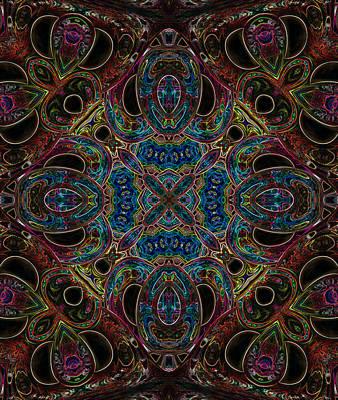 Digital Art - Black Light 10 by Wendy J St Christopher