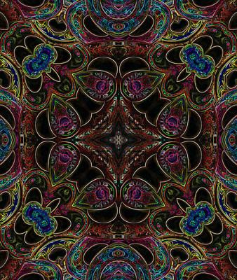 Digital Art - Black Light 3 by Wendy J St Christopher