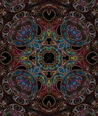 Digital Art - Black Light 5 by Wendy J St Christopher