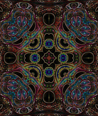 Digital Art - Black Light 6 by Wendy J St Christopher