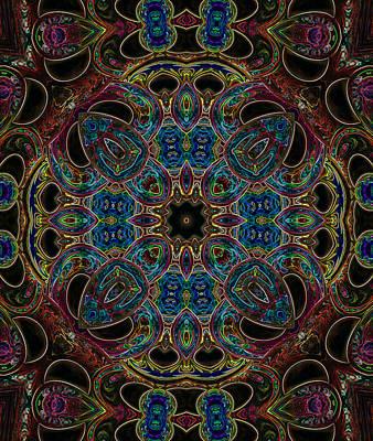 Digital Art - Black Light 7 by Wendy J St Christopher