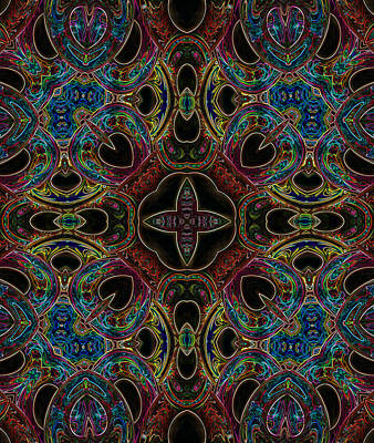 Digital Art - Black Light 8 by Wendy J St Christopher