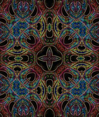 Digital Art - Black Light 8 by Wendy J St Christopher