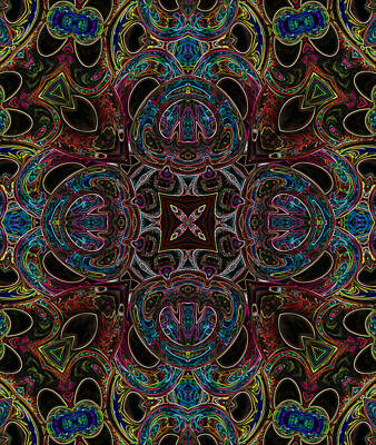 Digital Art - Black Light 9 by Wendy J St Christopher