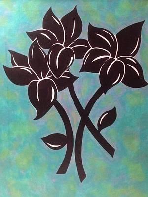Lilium Painting - Black Lilies by Eddie Pagan