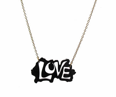 Perspex Jewelry Jewelry - Black Love Necklace by Rony Bank