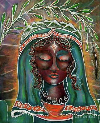 Painting - Peace - Black Madonna by Deborha Kerr