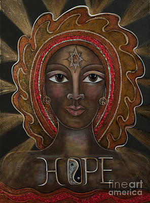 Painting - Black Madonna - Hope by Deborha Kerr