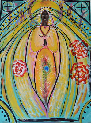 Painting - Black Madonna by Mary Ann Matthys