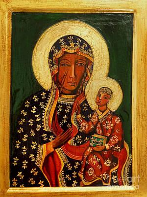 Black Madonna Painting - Black Madonna Of Czestochowa Icon by Ryszard Sleczka