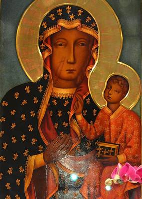 Poland Painting - Black Madonna Of Czestochowa by Philip Ralley