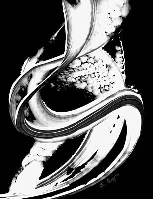 Black Magic 313 Inverted Art Print by Sharon Cummings