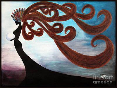 Black Magic Woman Art Print by Jolanta Anna Karolska